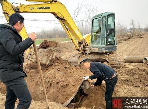 郯城县利用冬闲之余兴起农田水利建设的任务